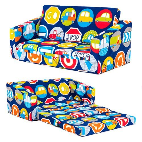 Road Signs Children's 'Lily' Foam Fold Out Sofa Bed Lounger Ready Steady Bed