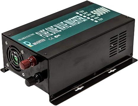 WZRELB 3000W Pure Sine Wave Power Inverter 12v dc to 230v ac with Standard UK plug for Home appliances Solar system RV Camping 3000w12v