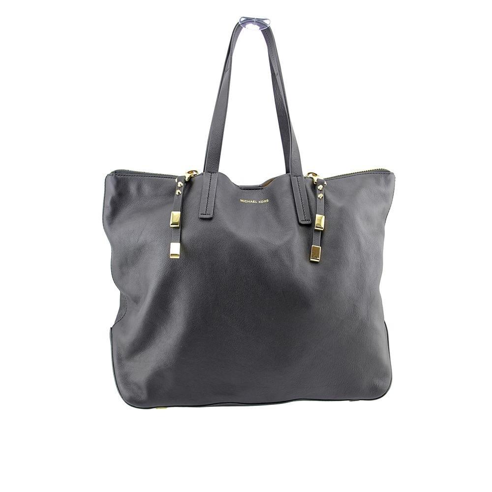 318049196 Amazon.com: Michael Kors Miranda Zips Womens Black Purse Leather Tote: Shoes