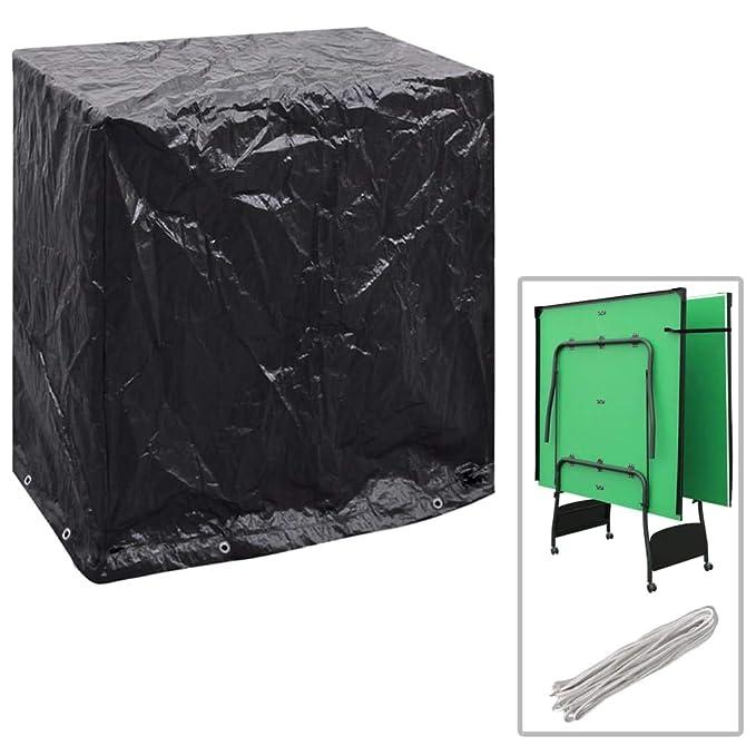 ghuanton Funda Muebles jardín y Mesa de Ping Pong 8 Ojales ...