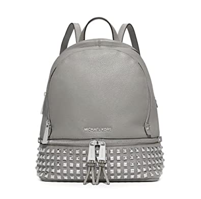 25834d6388fc Amazon.com: MICHAEL Michael Kors Rhea Studded Backpack (One Size US Women, Pearl  Grey): Shoes