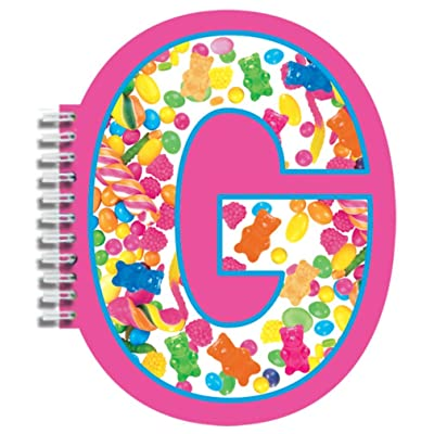 "iscream Letter G Shaped Spiral-Bound Lined Page 6.5"" Initial Notebook: Toys & Games"