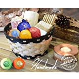 BMK Bath Bombs Gift Set, 8 Essential Oils Bath Fizzies & 6 Aromatherapy Candles, Handmade Natural Organic Luxury Spa Bomb Bath Basket Gift Ideas Kit for Women, Mom, Girls, Kids