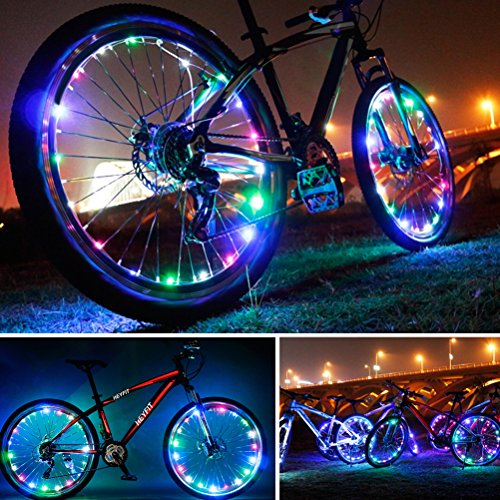 Bike Wheel Light String Bicycle Tire Spoke Light Ultra Bright LED Waterproof...