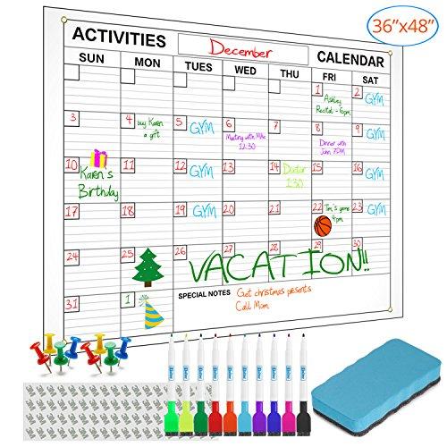 l Calendar with 10 Markers / Eraser / Thumbtacks - 36