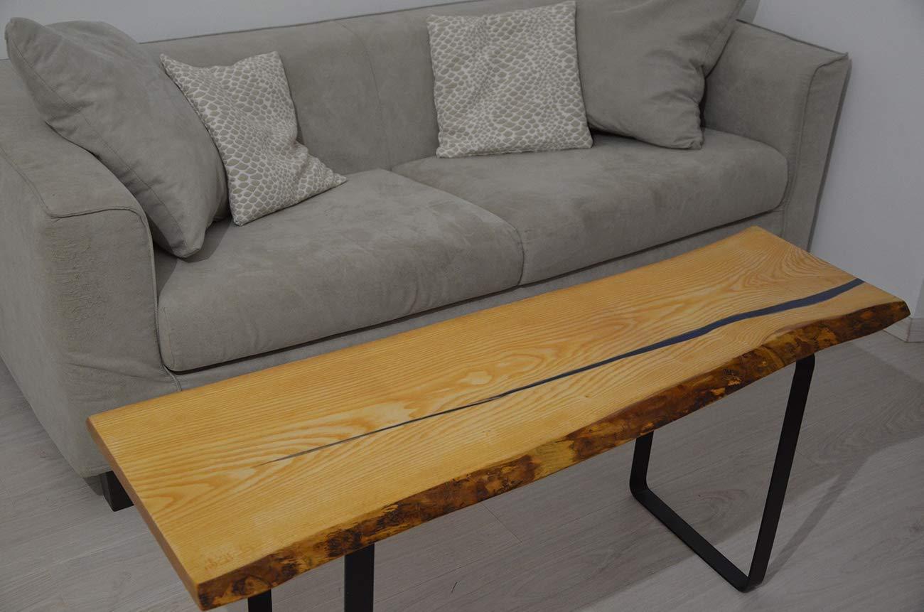 Mesa de café madera resina epoxi natural con tronco de árbol ...