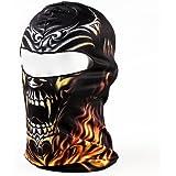 TOOGOO(R) Black Flame Skull 3D Animal Active Outdoor Sports Cycling Motorcycle Masks Ski Hood Hat Veil Balaclava UV Protect Full Face Mask BB20