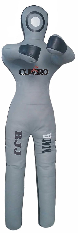 Quadro MMA Martial Arts GrapplingダミーグレーJiu Jitsu Punching Bag – Unfilled B076X6GF3P Synthetic Leather Gray 70 inches (6 ft)