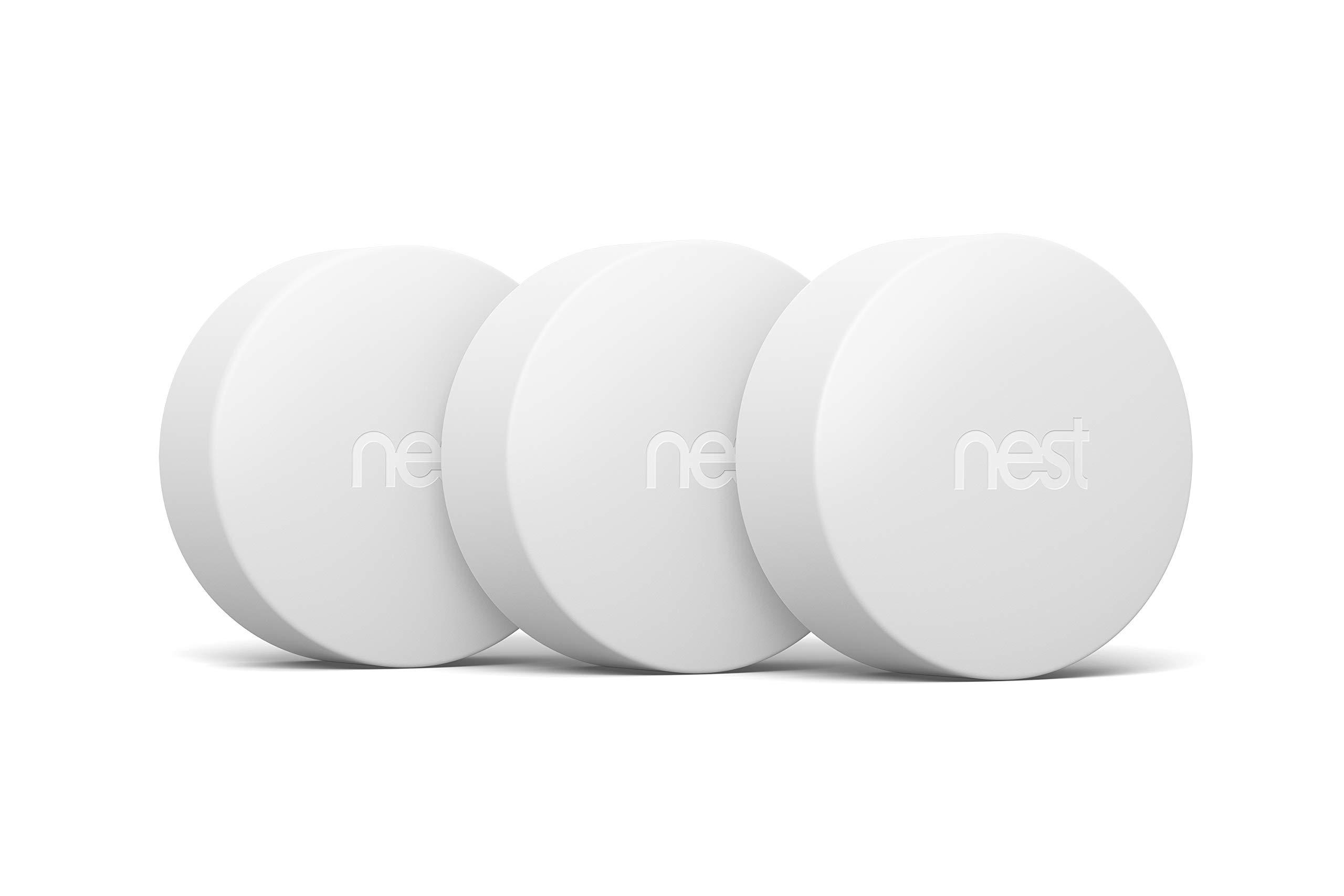 Google, T5001SF, Nest Temperature Sensor, White, 3 Pack by Google