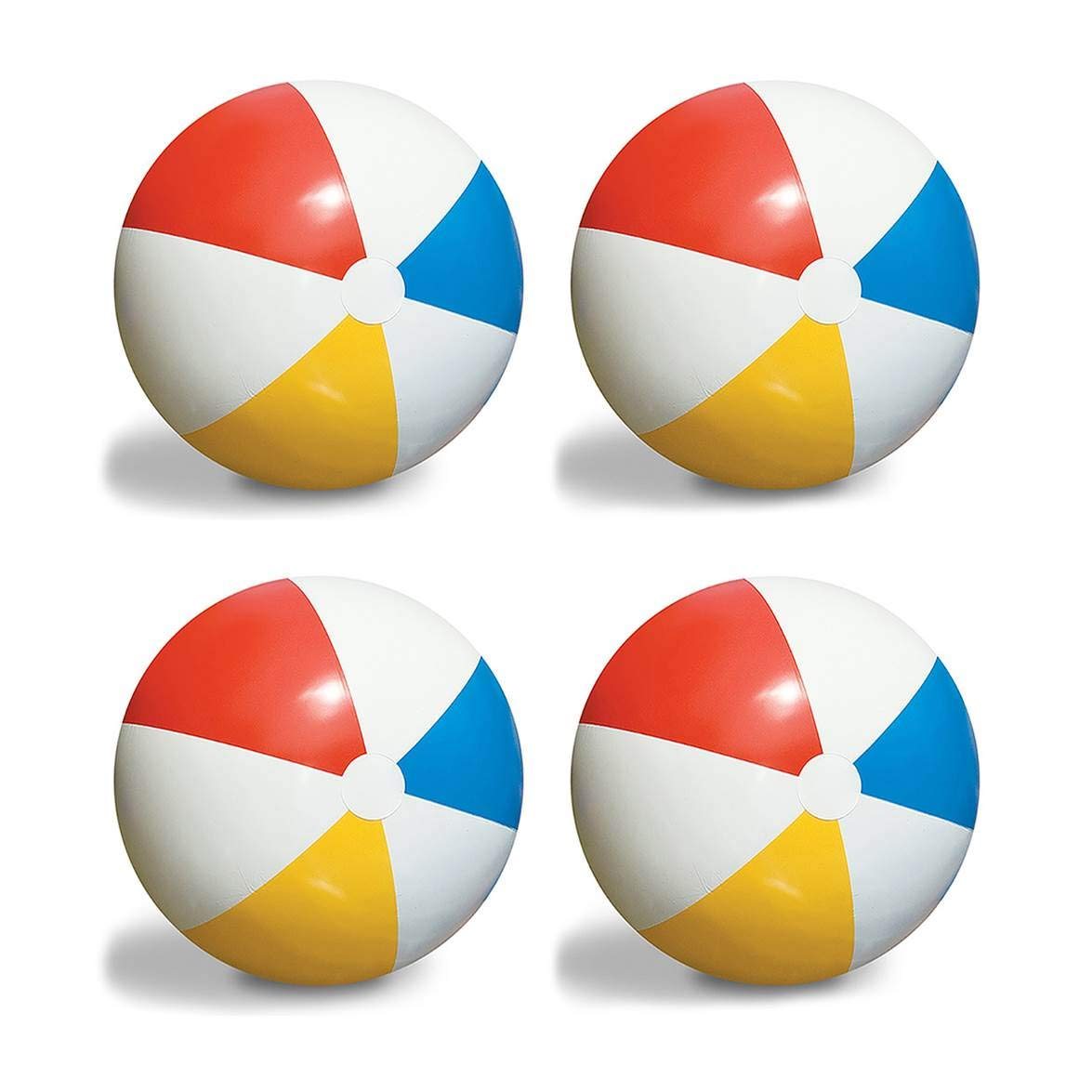 4-Pack Swimline Inflatable 36-Inch Classic Rainbow Giant Beach Balls | 4 x 90036 by Swimline