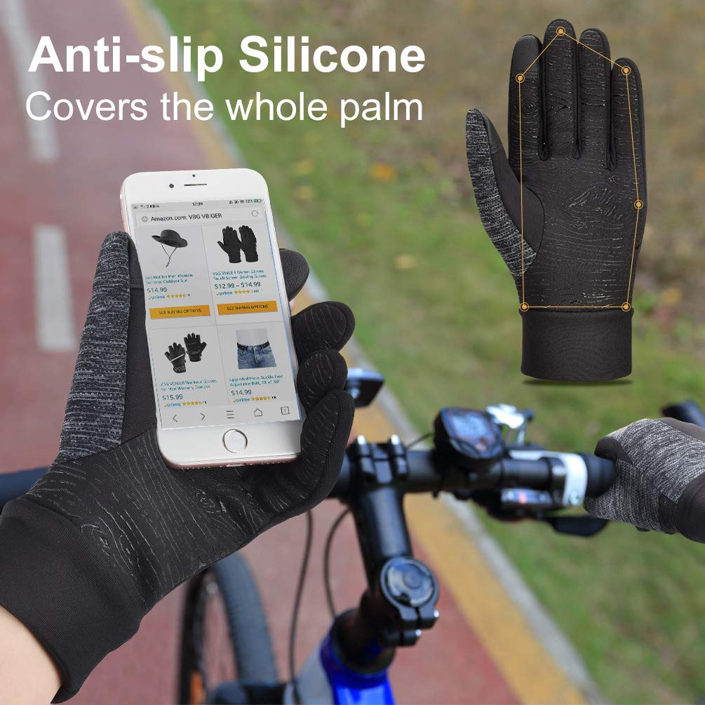 Winter Gloves Touch Screen Gloves Anti-slip Cycling Gloves Driving Gloves for Men Women