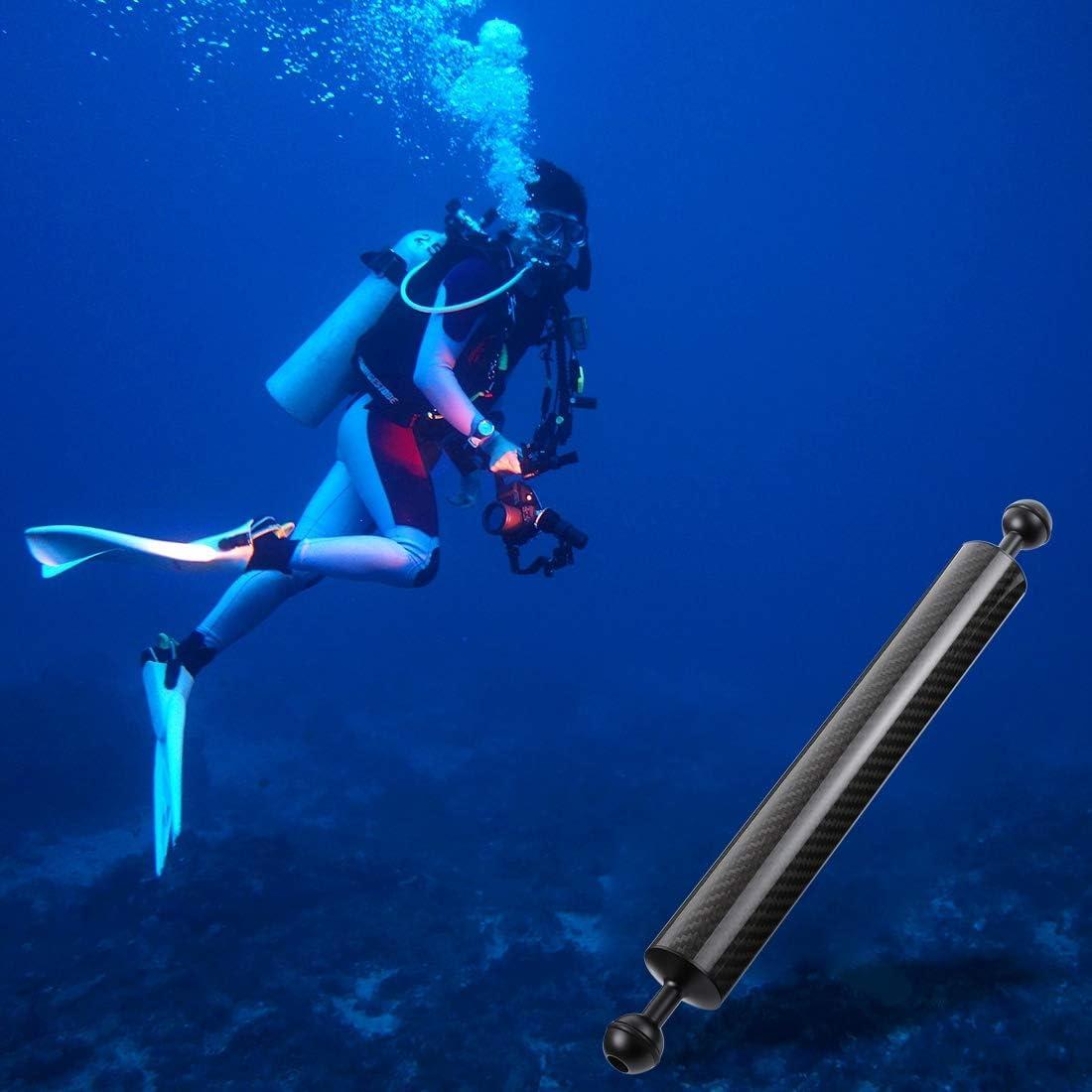 300g Durable 25mm Ball Diameter GuiPing 14.56 inch 37cm Length 40mm Diameter Dual Balls Carbon Fiber Floating Arm Buoyancy