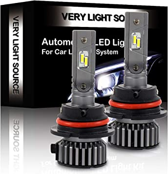 SCITOO H7 LED Headlight Bulb Conversion Kit High Low Beam Brighter Cree White Light LED Headlight 2pcs 9600Lm 80W 6000K Focus Light