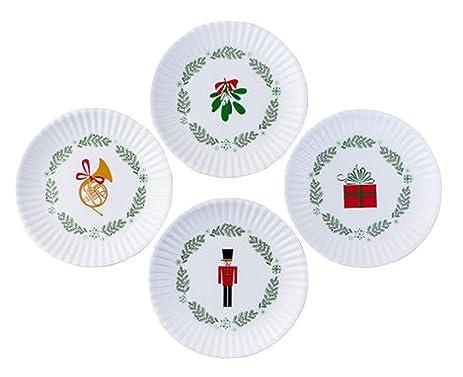 Nutcracker Holiday Christmas 7.5u0026quot; Melamine Appetizer Plates Assorted ...  sc 1 st  Amazon.com & Amazon.com | Nutcracker Holiday Christmas 7.5