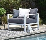Elle Decor Paloma Outdoor Arm Chair, White