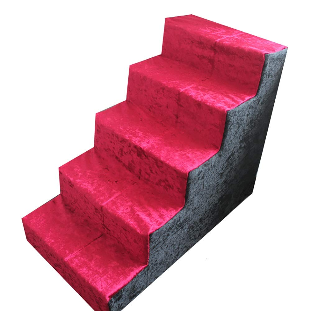 Pet stairs Pet Dog 5 Step Stairs For High Bed, Dog Cat Step Stool For Bed Sofa Puppy Activity Ladder Supplies Washable Cover