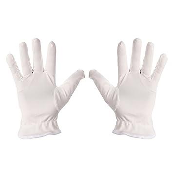10 Paar Weiß Baumwolle Handschuhe Weichen Leicht Arbeiten Futter