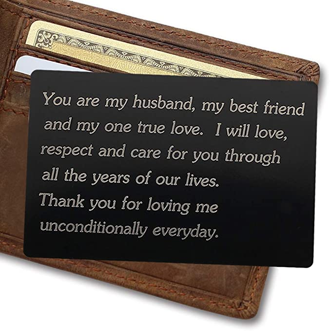 Amazon Engraved Aluminum Wallet Love Note InsertMetal Card InsertMini Groom Gifts For Him Mens Gift Shoes
