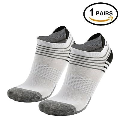 Low Cut Running Socks 6 Pack, MEIKAN Athletic Performance Comfort No Show Tab Socks for Men Women