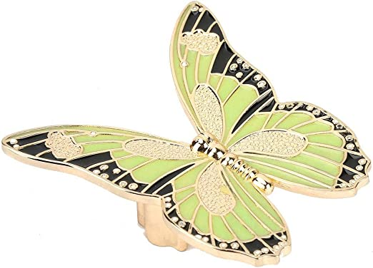 Butterfly Shape Cabinet Door Drawer Cupboard Pull Handle Knob Hardware Blue