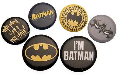 Batman DC Pack de chapas (Talla Única) (Multicolor): Amazon.es ...