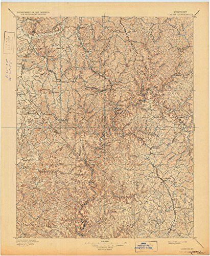 (YellowMaps London KY topo map, 1:125000 Scale, 30 X 30 Minute, Historical, 1897, Updated 1932, 20.4 x 16.8 in - Paper)