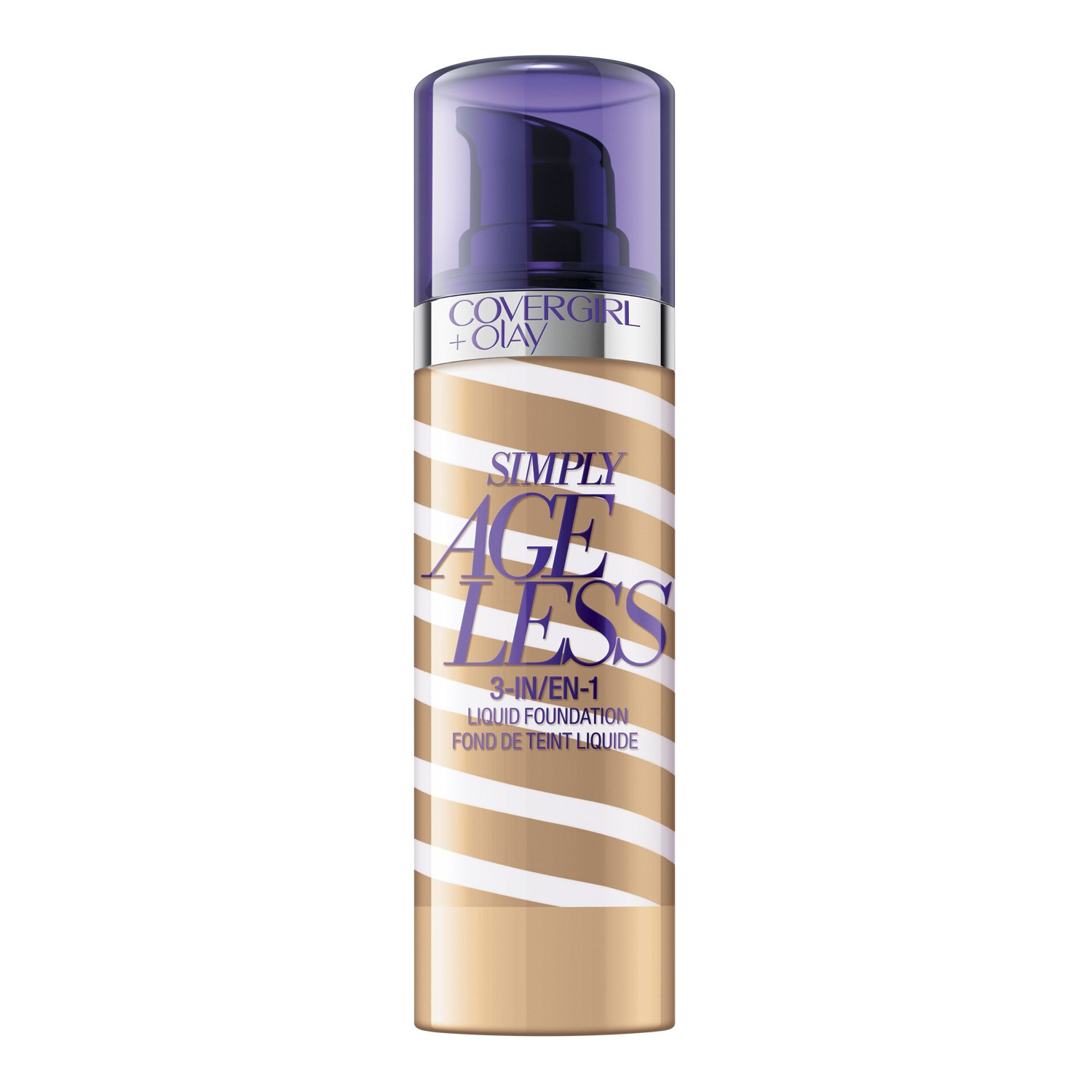 COVERGIRL + Olay Simply Ageless 3-in-1 Liquid Foundation, the #1 Anti-Aging Foundation Now In A Liquid, Buff Beige Color, 1 Ounce