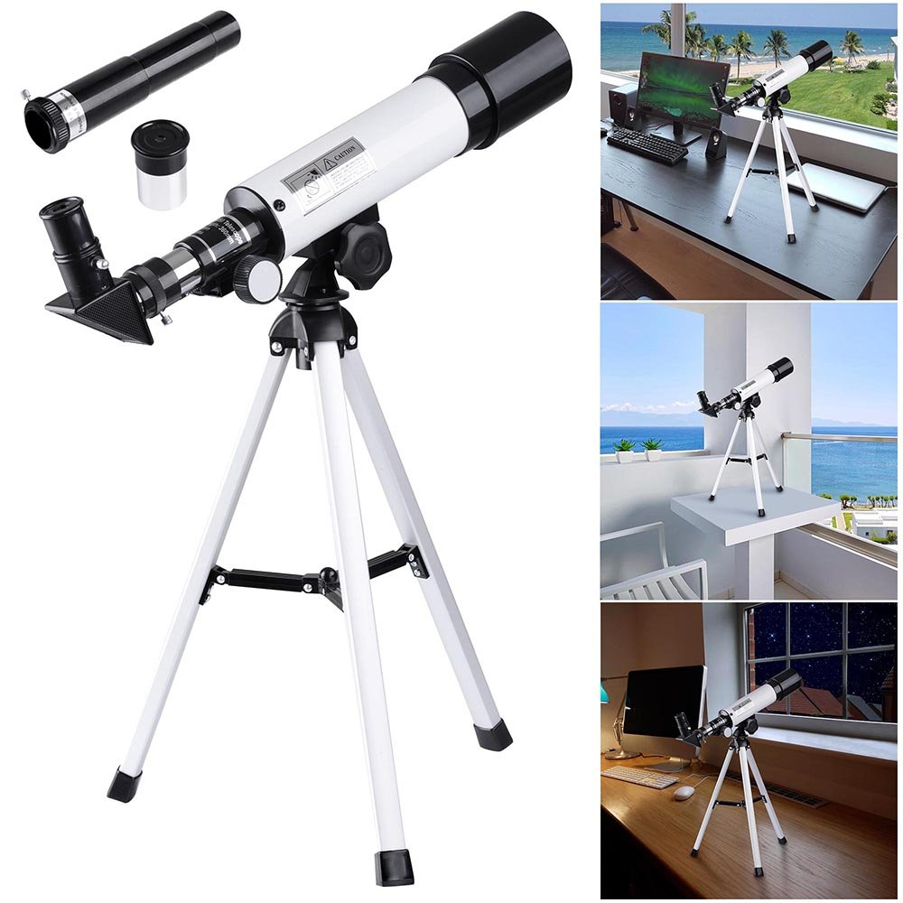 AW 50mm Kid Beginner Astronomical Refractor Telescope Refractive Spotting Scope Tripod Observation Astronomy Travel Camp by AW