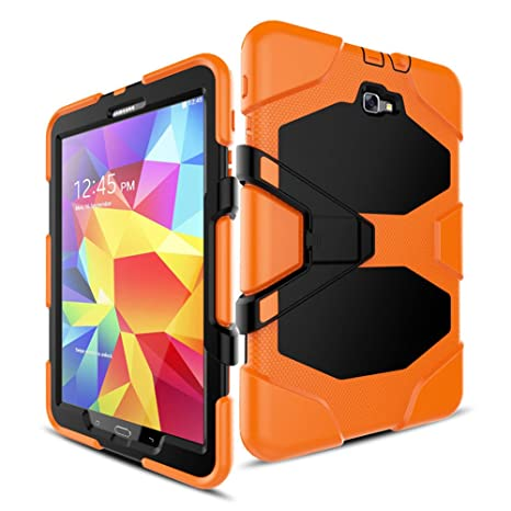 detailed look 90190 40041 FastSun Samsung Galaxy Tab E 9.6 Case Heavy Duty Armor Hybrid Rugged Hard  Shockproof Multi-function Stand Cover Protect Case with Build in Screen ...