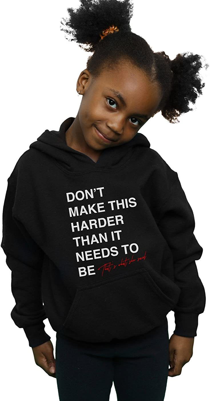 Drewbacca Girls Harder She Said Hoodie Black 9-11 Years
