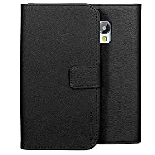 Galaxy S5 Active Case, BUDDIBOX [Wallet Case] Premium PU Leather Wallet Case with [Kickstand] Card Holder and ID Slot for Samsung S5 Active, (Black)