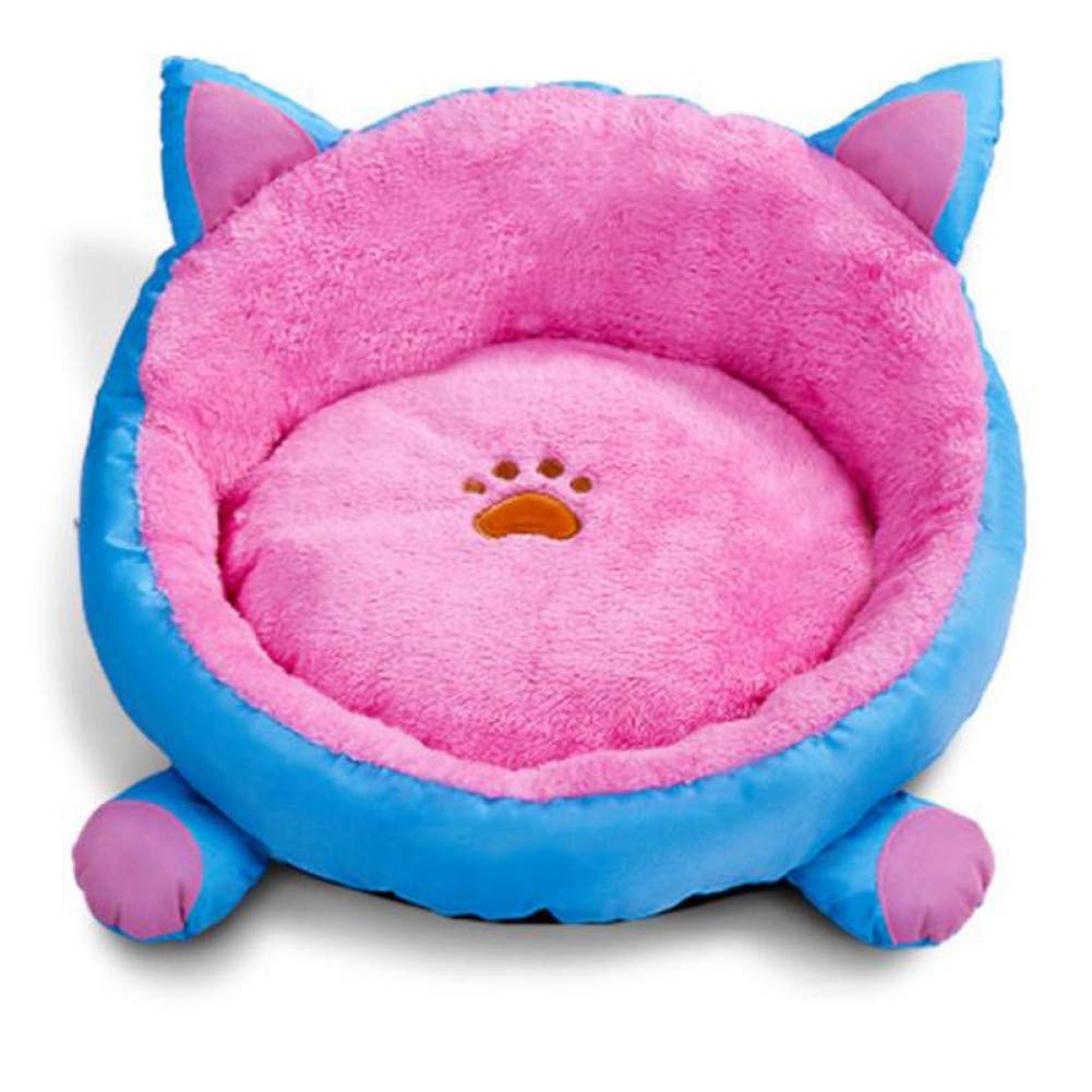 Dia48cm WWSSXX Cat House Round Plush Pet Bed For Small Dogs Puppy Kitten Warmer Basket Cat Bed Sleeping Cushion Mat