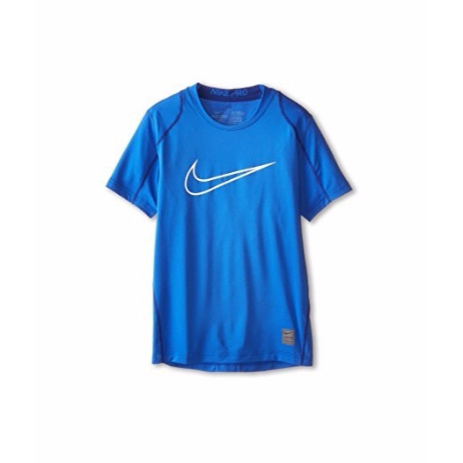 Nike Pro Cool HBR Fitted Boys Short-Sleeve Top (X-Large, Game Royal/White) (3 Pack)