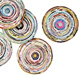 Set of 5 coasters made from magazine paper - Free shipping - home decoration interior design quilled quilling upcycled upcycle up-cycled recycled lovely gorgeous smart person vegetarians inspiration