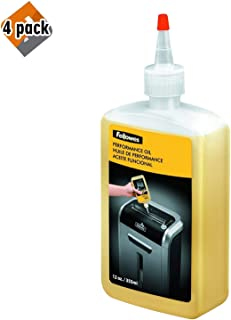 product image for Fellowes 35250 Powershred Performance Oil, 12 oz. Bottle w/Extension Nozzle - 4 Pack