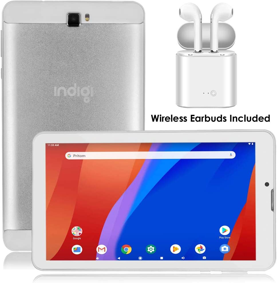 4G LTE Unlocked QuadCore Android TabletPC & Smartphone (7 -inch Display + QuadCore 1.3GHz + 2GB RAM/16GB ROM + Headset)