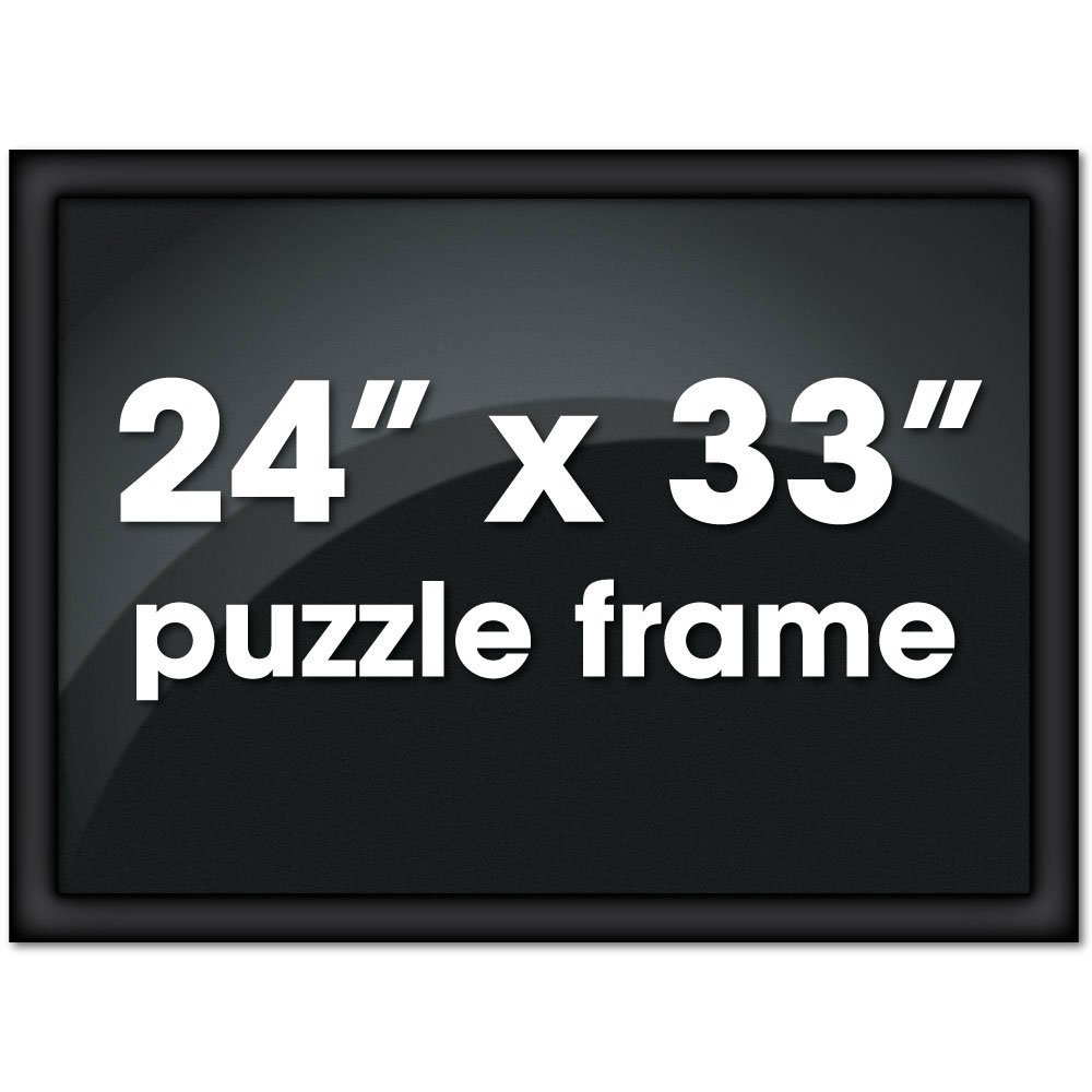 Bits and Pieces - Metal Puzzle Frame - Custom Black Metal Channel Frame fits Puzzles up to 24 X 33 inches by Bits and Pieces