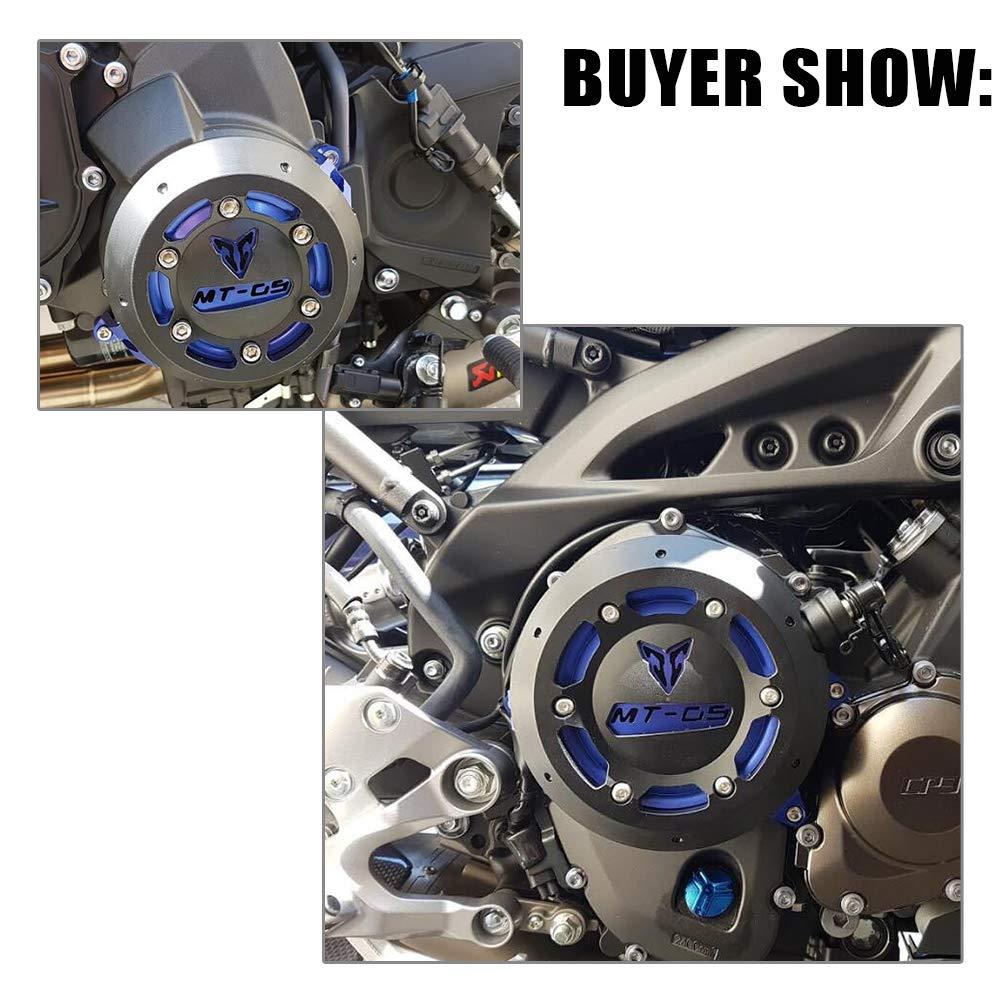 XX eCommerce Motorrad Motorrad MT09 Left /& Right CNC Motorschutz Stator Case Schutzstecker Kupplung Slider Abdeckung f/ür 2014 2015 2016 Yamaha MT-09 TRACER 900 rot