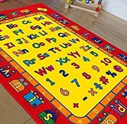 HR\'S ABCD FUN KIDS EDUCATIONAL NON SLIP AREA RUG (8X11(7FT.4INX10FT.4IN))