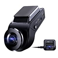 Vantrue S1 4k Hidden Dash Cam Built in GPS Speed, Dual 1080P Front and Rear Car Camera with 24/7 Parking Mode, Sony…
