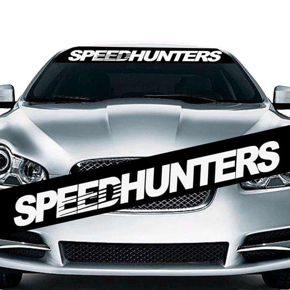 Buy speed hunters car decal sticker mirror window white colour online at low prices in india amazon in