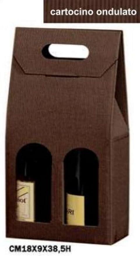 Beauty Cart Caja para 2 Botellas Verticales, de cartón Ondulado marrón, conf. de 20 Piezas: Amazon.es: Hogar
