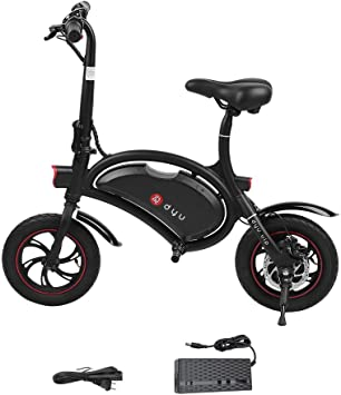 DYU Bicicleta eléctrica Plegable de 12 Pulgadas, Mini Bicicleta ...