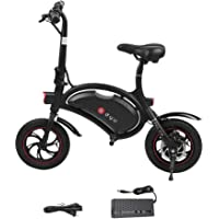 OUTAD Folding E-Bike with 36V 6AH Lithium-Ion Battery, 12 inch Wheels and 250W Hub Motor | Lightweight and Aluminum Electric Bicycle | Reach 18.6 mph, 264 lbs Max Load
