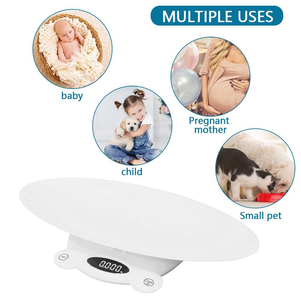 WXLAA Baby Scale Multi-Function Infant Toddler Scale Split Mother Baby Scale Digital Pet Scale kg//st//lb Unit Switchable 50g-120kg