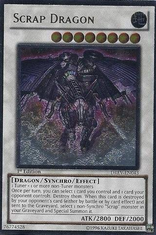 Scrap Dragon DREV-EN043 Unlimited New Duelist Revolution Ultimate Rare