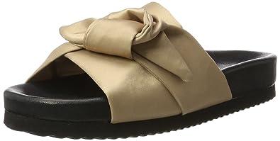 73d8e867e00 Selected Femme Women's SFADLENE Slider Open Sandals, Beige Nude, 37 ...