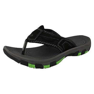 04d08acd8 Mens Northwest Territory Toe Post Sandals Fiji - Black Leather - UK Size 7  - EU