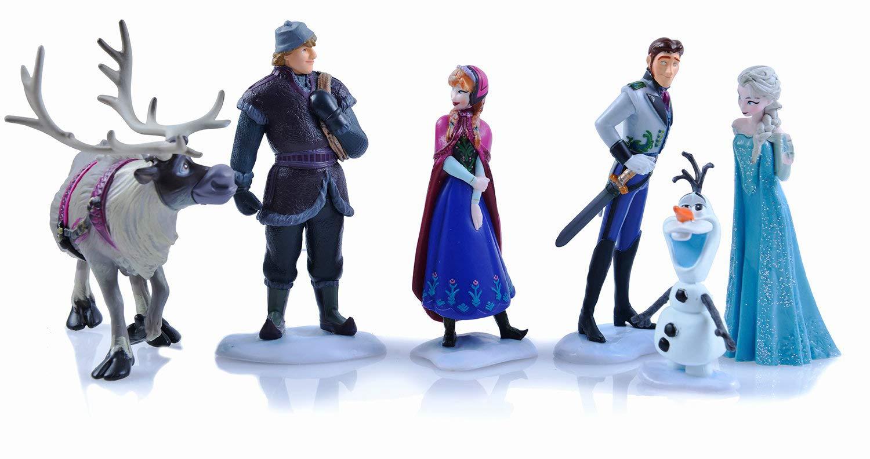Amazon.com: 6 figuras de acción de Froze Princesses, juguete ...