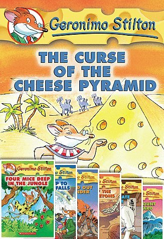 Geronimo Stilton Set of 8 Books! Includes Mystery in Venice, Mighty Mount Kilimanjaro, Karate Mouse, Valley of Giant Skeletons, Down & Out Down Under, Field Trip to Niagara Falls, Four -